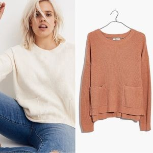 NWT Madewell Patch Pocket Pullover Sweater